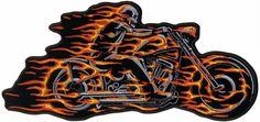 Hell Rider Biker patch - Aufnäher Hölle-Reiter Biker - chevron El infierno jinete ciclista - нашивка Адский Всадник