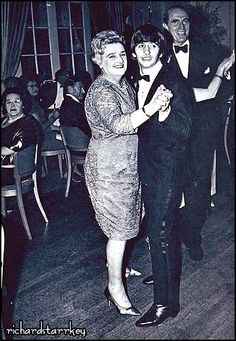 Ringo dancing with his mum Elsie  at the Dorchester Hotel in London at a party held July 6, 1964 after the premier for Hard Day's Night - the Beatles first movie.
