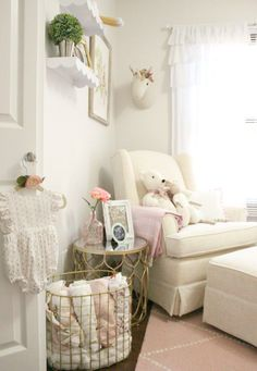 Baby Girl Nursery Glider Chair - Sophistifunk