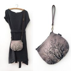 2-in-1 Crossbody / Clutch - Reaching Trees Crossbody Clutch, Clutch Bags, 2 In, Trees, Fabric, Shopping, Collection, Decor, Products