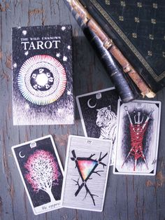 THE WILD UNKNOWN TAROT DECK | 40.00 dollars | 78 cards filled with magical and mysterious imagery. Intricately illustrated by Kim Krans.