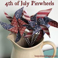 DIY pinwheels with scrapbook paper.