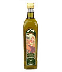 Aceite del Bajo Aragón, La Calandina, 0,75 l. De color amarillo a dorado viejo, muy fragante. Aromático tanto en nariz como en boca, con sensaciones de fruta fresca, tomate, manzana ácida, almendra amarga –amargor agradable-, con un paso no muy denso, fresco, suave y nada picante. http://www.porprincipio.com/aceites/31-aceite-del-bajo-aragon.html#