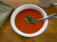 #paleo 10-Minute Tomato Soup: 1 28-ounce can whole tomatoes; 2 cups chicken stock; 1 teaspoon garlic infused olive oil; 1 tablespoon tomato paste; 1/8 teaspoon chipotle chili flakes; salt and pepper to taste