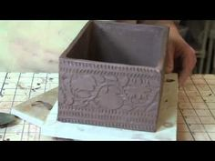 Bridges Pottery Slab Construction Demo - The idea of a canvas with a grid pattern is great!!