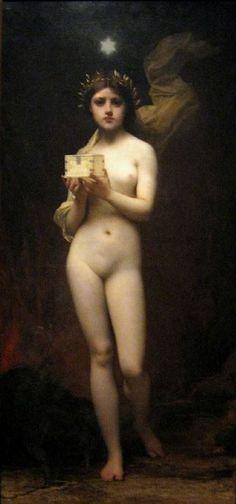 Pandora by Jules Joseph Lefebvre, 1872.