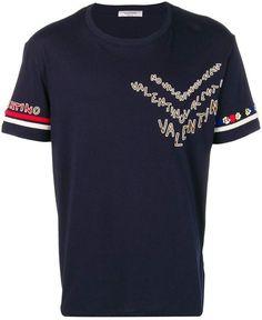 d3eeb99237af0d Valentino embellished logo T-shirt