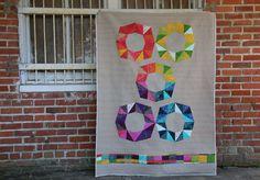 Sunprint 2015 Modern Quilt Fractal Block