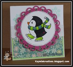 Skatin' Penguin by Bugaboo Stamps, created by Min.