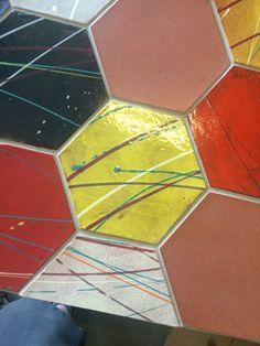 Hexagon Tiles, Hexagons, Tile Art, Out Of Style, Tile Design, Handmade Art, Cube, Miami, David