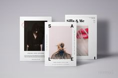 3 Postcard Flyers Editorial Fashion by Nonola on @creativemarket