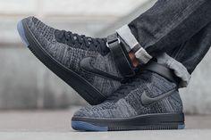 "Nike Air Force 1 Ultra Flyknit Mid ""Dark Grey/Black"" - EU Kicks: Sneaker Magazine"