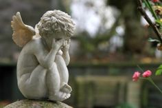 Quotes About Grief - for Loss of Parent or Child Angel Sculpture, Garden Sculpture, Art Sculptures, Sister Love, To My Daughter, Baby Angel Tattoo, Garden Angels, Child Loss, Angel Statues
