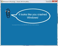 crashed windows