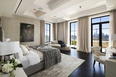 sophisticated art deco bedroom  #livingroomideas #luxuryhomes #interiordesign modern design, luxury lighting, ambient lighting. See more at www.luxxu.net