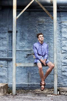 """Eric Weiss at Wilhelmina Miami in """"Before The Show"""" by Lucie Hugary for Fashionisto Exclusive"""