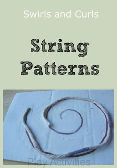 String Patterns - prewriting fun | Play Activities. love this from http://play-activities.com