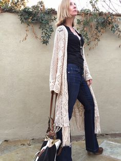 Savoir Flare! flared jeans over forty, style over 40, boho chic, boho over forty, boot cut jeans, clogs, crochet