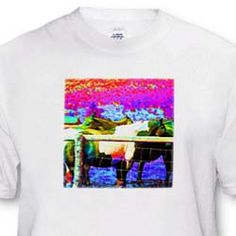 Horses finished in neon colors for fun and children T-Shirt