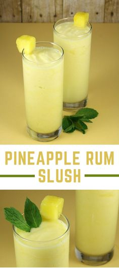 Pineapple Rum Slush - The Toasty Kitchen # ananas rum slush - die toasty kitchen Pineapple Rum Slush - The Toasty Kitchen # Liquor Drinks, Cocktail Drinks, Bourbon Drinks, Rum Cocktail Recipes, Refreshing Drinks, Summer Drinks, Summer Drink Recipes, Summertime Drinks, Beste Cocktails