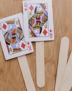 Tell the Purim story in a new way: By making a set of puppets out of an old deck of cards!