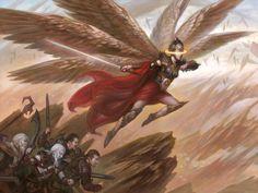 Battle for Zendikar MtG Art. The cards and artwork of Battle for Zendikar, a Magic the Gathering Set. Angel Demon, Angel Warrior, Fantasy Art Angels, Fantasy Artwork, Fantasy Races, High Fantasy, Fantasy Creatures, Mythical Creatures, Altar