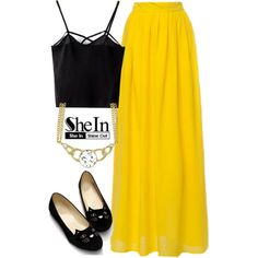 SheIn by deedee-pekarik on Polyvore featuring moda, tanktop, blacktop and shein