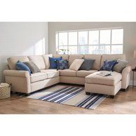 Better Homes & Gardens Gramercy U-Configuration Sectional with 61 inch Loveseat, 73 inch Sofa, Corner Connector and Reversible Chaise Cozy Living Rooms, Living Room Modern, Home And Living, Living Room Decor, Unwanted Furniture, New Furniture, Furniture Projects, Cheap Couch, Cozy Couch