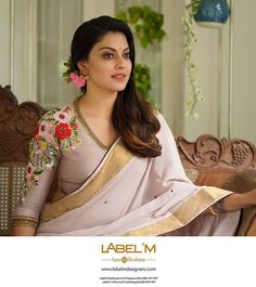 Onam Saree Blouse Collection By Label'M Wedding Saree Blouse Designs, Saree Blouse Neck Designs, Fancy Blouse Designs, Latest Blouse Designs, Indian Blouse Designs, Designer Blouse Patterns, Designer Saree Blouses, Diana, Stylish Blouse Design