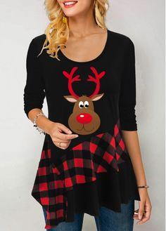 New Arrival | Liligal.com Christmas Tops, Black Christmas, Christmas Shirts, Womens Christmas, Christmas Snowman, Trendy Tops For Women, Plaid, Printed Tank Tops, Stripe Print