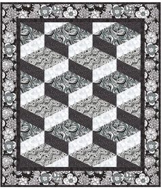 Steppin' Out Quilt Pattern - another black and white beauty