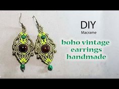 c4802bab9f3a How to make earrings DIY  boho vintage earrings macrame by Thao handmade