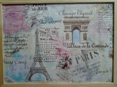 Vintage Paris Corkboard