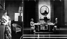 1926 French film La Vertige, directed by Marcel L'Herbier, the actor Jaque Catelain in an Art Deco interior, and a bath robe designed by Sonia Delaunay.