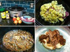 Paleo Crock Pot Pork Tenderloin with Apples and Honey  #OurFullPlate
