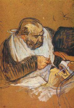 Henri de Toulouse-Lautrec (1864-1901). El Dr. Péan operando (1891-1892) Óleo sobre cartón. 74 x 50 cm. Sterling and Francis Clark Art Institute.