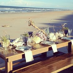 The Best Beach Weddings on Instagram; Why not hold the reception by the sea too?