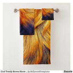 Cool Trendy Brown Horse fur texture design