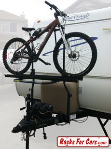 arvika 2 bike rack with travel trailer