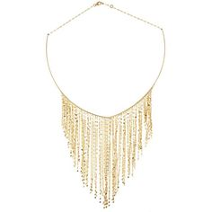 """Livin' on the Fringe? Now you can wear it. #LanaJewelry #14kGold #FringeChoker"""