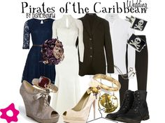 Pirates of the Caribbean wedding look.