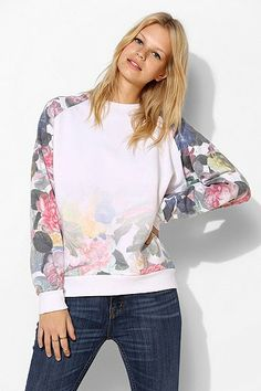 Blackstone Fade To Floral Pullover Sweatshirt