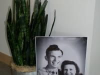 Guest can find their way to the party room by following blown up photos