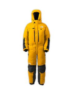 While Hillary was battling Everest's cruel elements with a minimal cotton and nylon suit, modern suits such as this provide climbers with not only greater warmth, but also better mobility and durability. Outdoor Outfit, Outdoor Gear, Down Suit, Modern Suits, Embroidered Sweatshirts, Snow Skiing, Vest Jacket, Mens Suits, Canada Goose Jackets