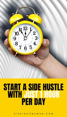 Time is the one constant we all have. Either way we look at it, we all have the same 24 hours in one day. It is how we choose to USE that time that is different.In this post, we are going to be discussing how to start a side hustle with just one hour per day.I know we all have lives and the daily grinds to deal with. Well, guess what? So do most people.