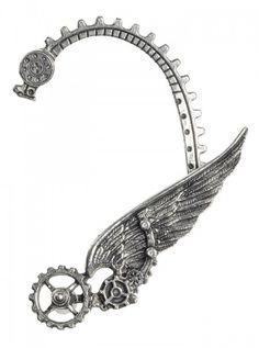 """""""Ikarus"""" Ear Wrap by Alchemy of England (Steel) #inked #inkedshop #inkedmagazine #earrings #earwrap"""