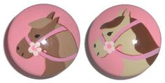 Kids Girls Ponies Horse Drawer Knobs Nursery Cabinet Pulls by DoodlesDecor on Etsy