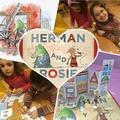 Actividad para el cuento Herman y Rosie de Gus Gordon. Marzo 2016