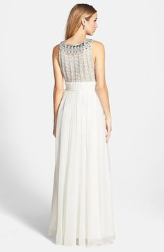 JS Collections Embellished Chiffon Gown available at #Nordstrom