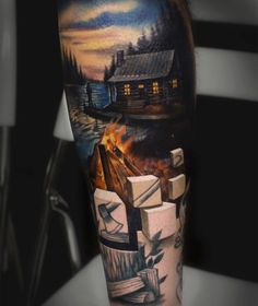 40 Lake Tattoo Designs for Men – Nature Ink Ideas # Ideas … 3d Tattoos, Nature Tattoos, Great Tattoos, Finger Tattoos, Beautiful Tattoos, Body Art Tattoos, Small Tattoos, Sleeve Tattoos, Tattoos For Guys